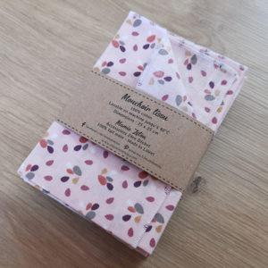 Mouchoir motif feuilles rose - Zoom 3