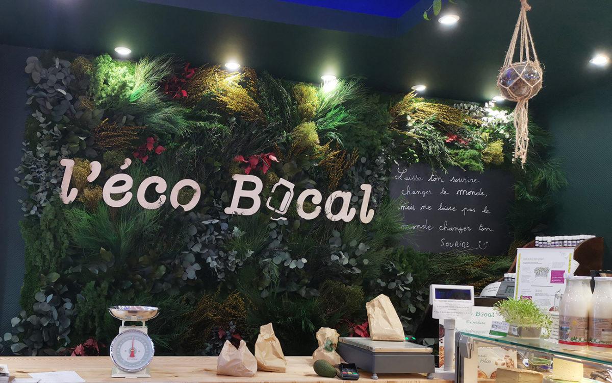 Mur végétal de l'Eco Bocal