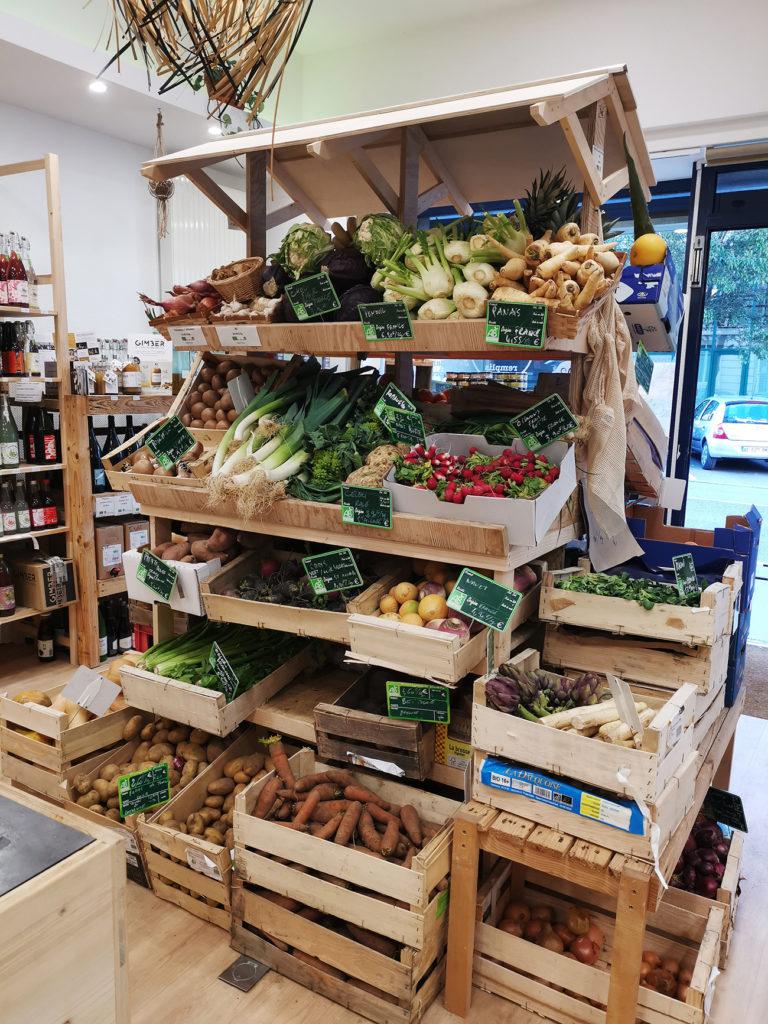 Stand de fruits et légumes
