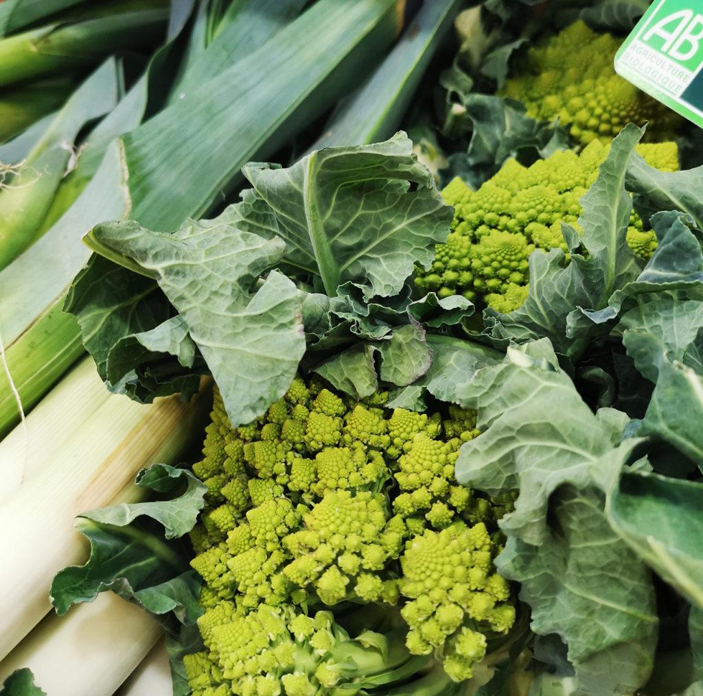 Légumes verts et frais